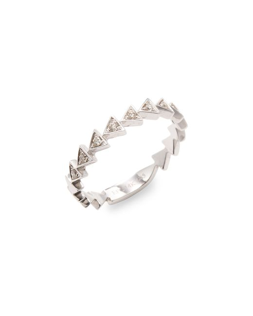 EF COLLECTION   Diamond Triangle Stack Ring