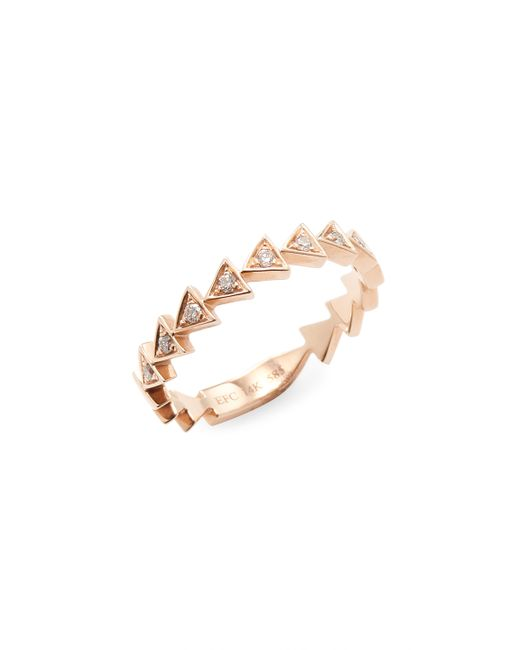 EF COLLECTION | Diamond Triangle Stack Ring