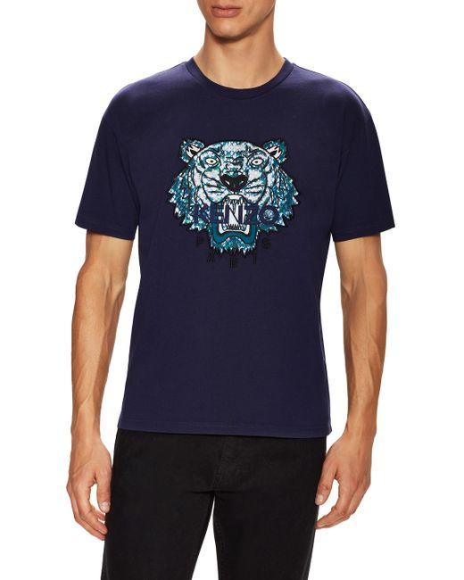 Kenzo | Красный Embroidered Tiger T-Shirt
