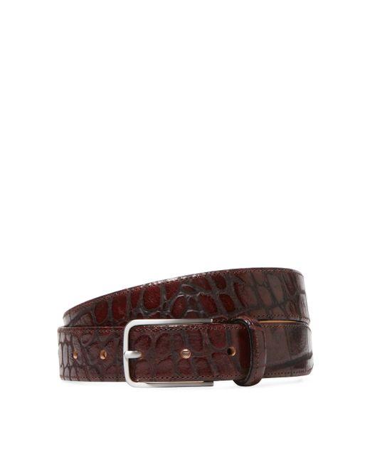 Peter Werth   Embossed Croc Feather Edge Belt