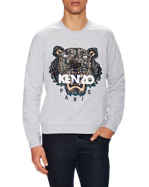 Kenzo | Красный Embroidered Tiger Sweatshirt