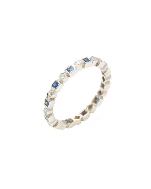 Estate Fine Jewelry   Золотой Estate 14k Sapphire 0.50 Total Ct. Diamond