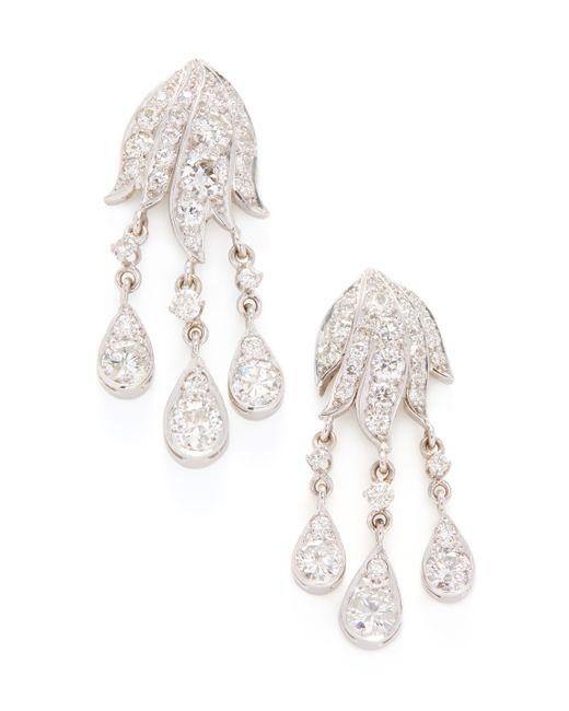 Estate Fine Jewelry   Estate Platinum 4.50 Total Ct. Diamond Chandelier