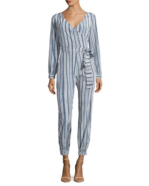 Calypso St Barth | Mahonia Silk Striped Jumpsuit