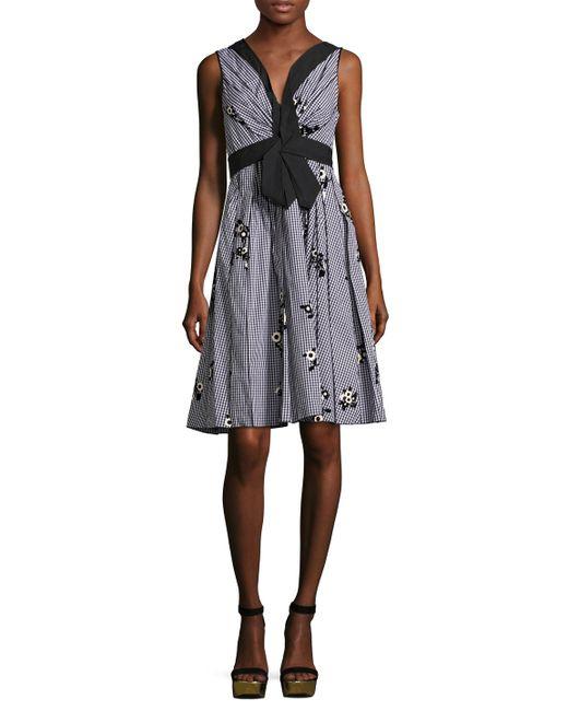 Marc Jacobs | Цветочный Pleated Above The Knee Dress