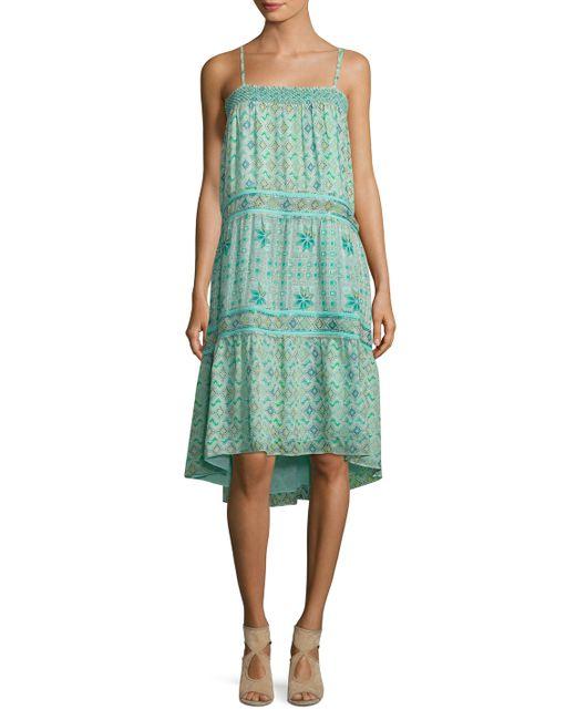 Calypso St Barth | Carstens Silk Printed High Low Dress