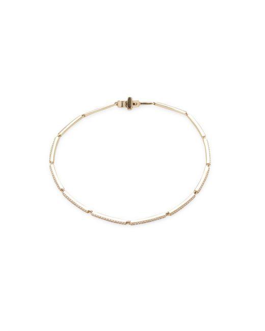 EF COLLECTION | Золотой 14k Bar Chain Bracelet