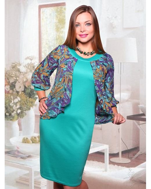 CHARUTTI   Женское Платье Веста Лазурь
