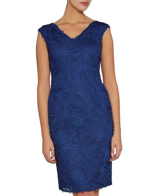 Gina Bacconi   Женское Синее Коктейльное Платье