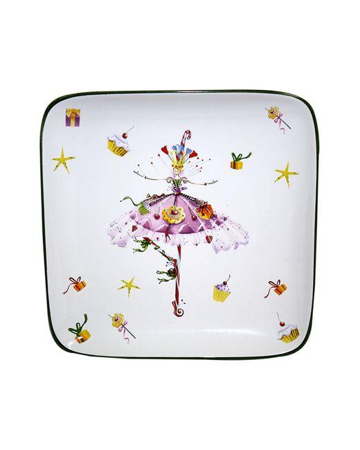 Elff Ceramics | Белое Блюдо Квадратное 185 См
