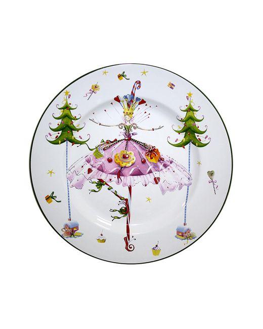 Elff Ceramics | Белое Блюдо Танцующая Девушка 23 См