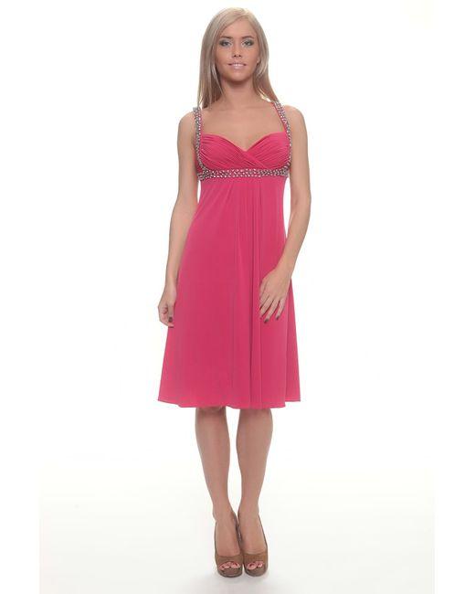 Groupe Js | Женское Розовое Платье