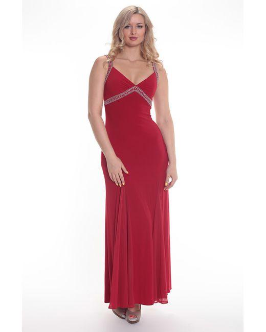 Groupe Js   Женское Красное Платье
