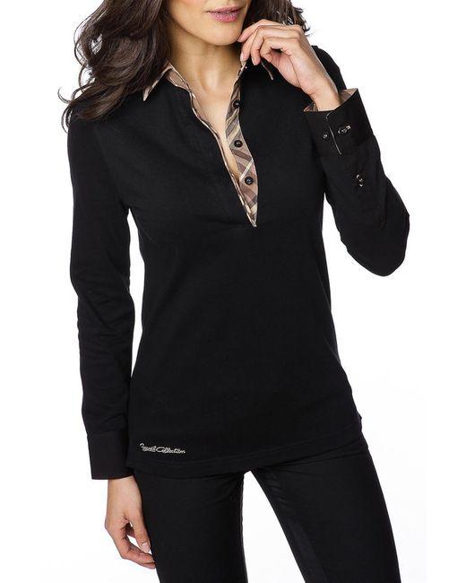 Gazoil   Женская Чёрная Рубашка-Поло