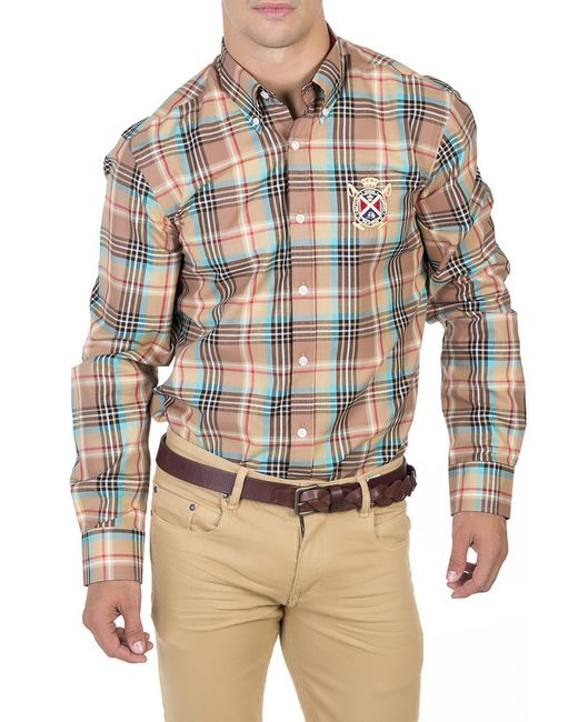 POLO CLUB С.H.A. | Мужская Многоцветная Рубашка