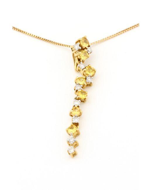 Magic Diamonds | Женская Жёлтая Цепь С Подвеской