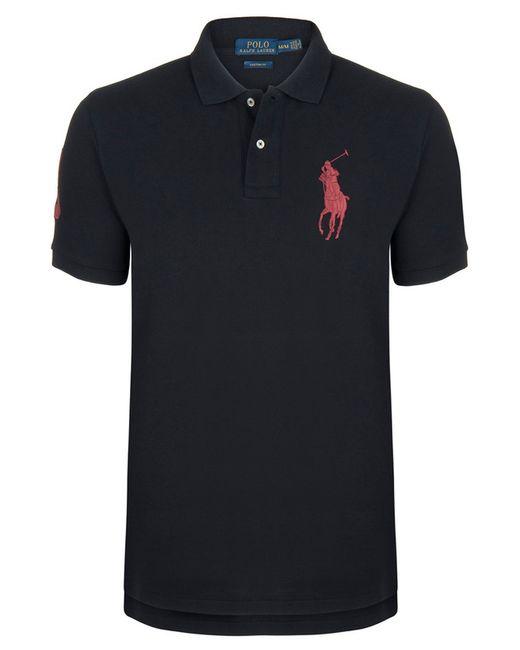 Ralph Lauren | Мужская Чёрная Рубашка-Поло