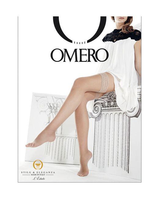 Omero | Женские Бежевые Чулки Плотностью 8 Ден