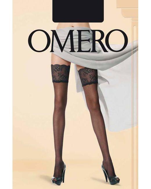 Omero | Женские Чёрные Чулки С Эффектом Тюля