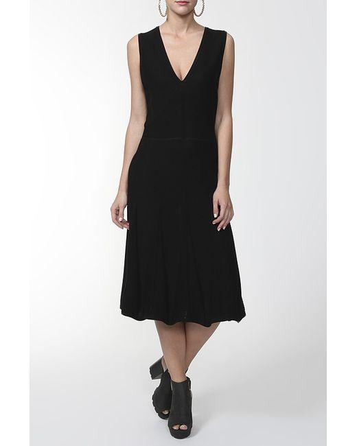 Valentino | Женское Чёрное Платье Вязаное