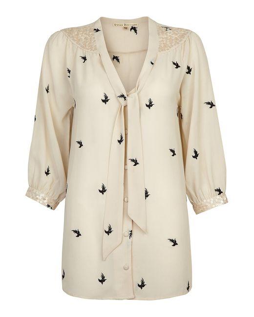 Uttam Boutique   Женская Бежевая Блуза
