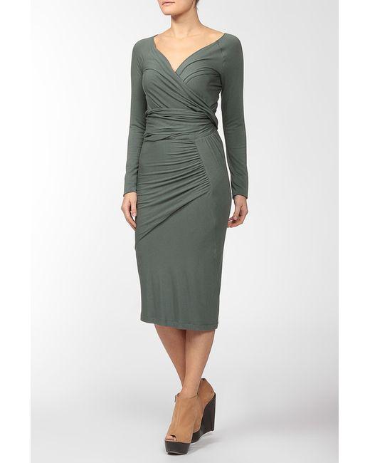 Donna Karan   Женское Голубое Платье