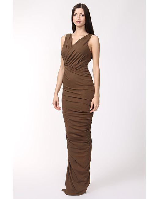 Donna Karan   Женское Коричневое Платье Вечернее