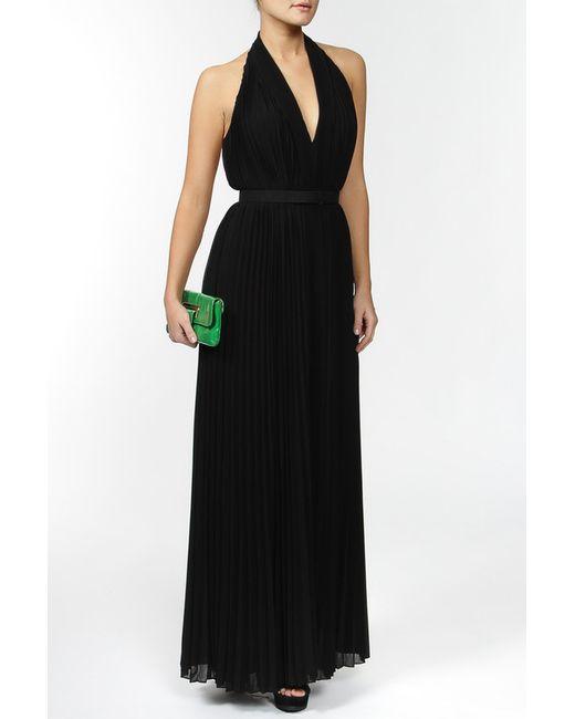 Halston Heritage | Женское Чёрное Платье С Поясом