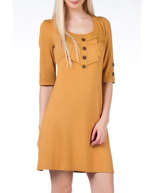 Duse | Женское Оранжевое Платье