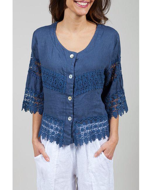 La Belle Helene   Женская Синяя Блуза