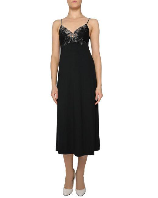 La Perla | Женская Чёрная Ночная Рубашка