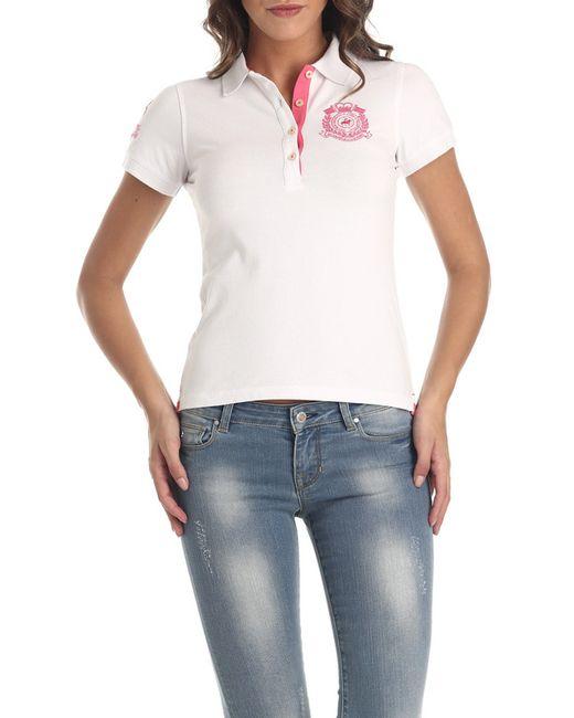 Galvanni   Женская Белая Рубашка-Поло