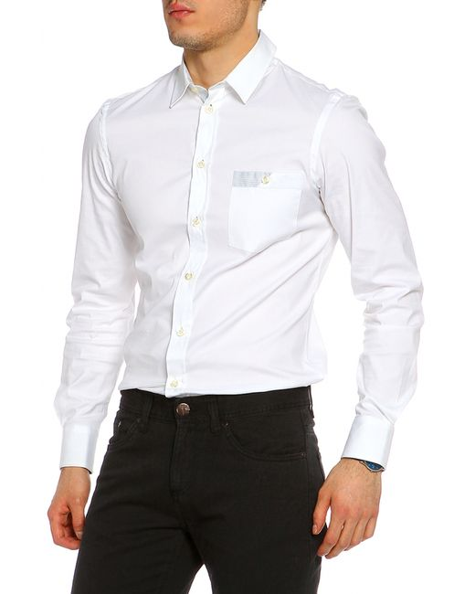 Emporio Armani   Мужская Белая Рубашка
