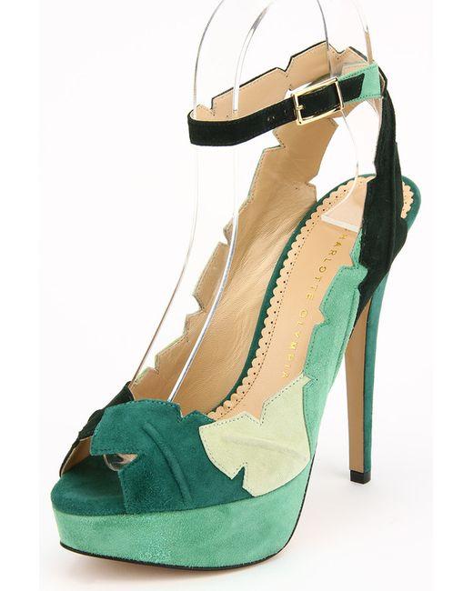 Charlotte Olympia | Женские Зелёные Босоножки