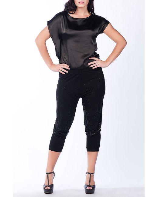 Moda di Lorenza | Женское Чёрный Три Четверти Брюки