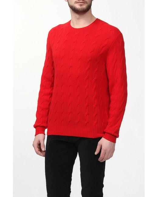 Ralph Lauren Purple | Мужской Красный Пуловер Вязаный
