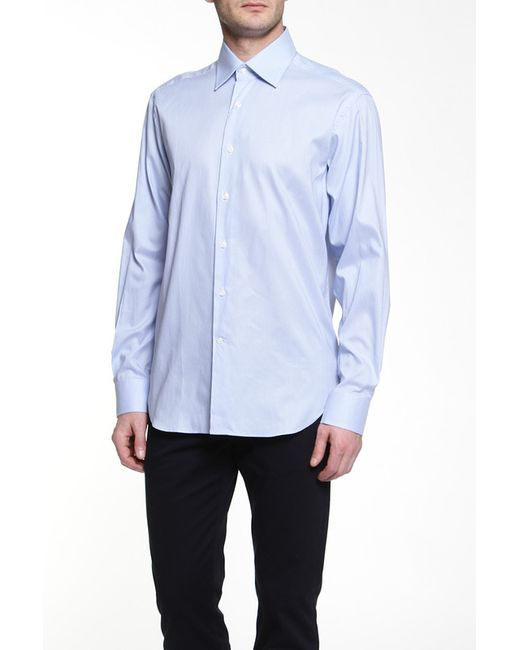 Dormeuil | Мужская Голуба Рубашка