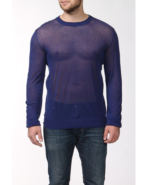 Maison Margiela | Мужской Синий Пуловер Вязаный