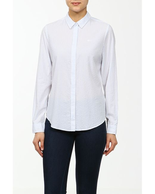 Lacoste   Женская Голуба Рубашка