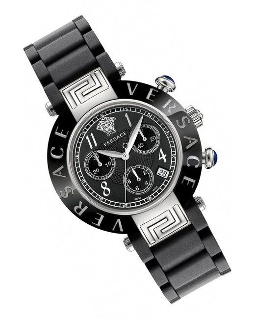 Versace | Женские Чёрные Часы Наручные