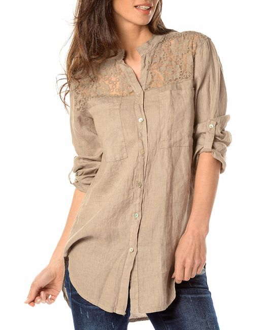 La Belle Parisienne   Женская Бежевая Рубашка