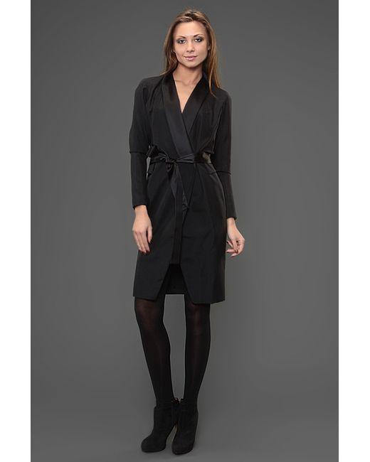 Saint Laurent | Женское Чёрное Платье С Поясом