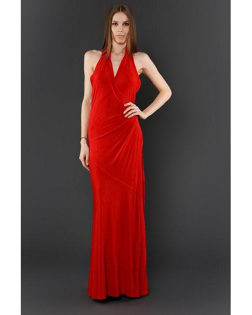 Donna Karan   Женское Красное Платье Вечернее