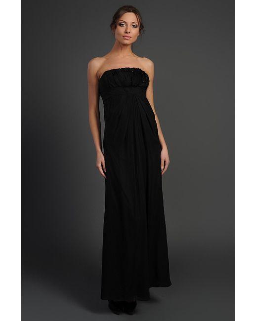 Valentino Roma | Женское Чёрное Платье Вечернее