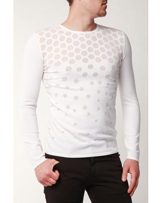 Emporio Armani | Мужской Белый Пуловер
