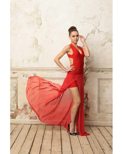 Tutto Bene | Женское Красное Платье С Открытой Спиной