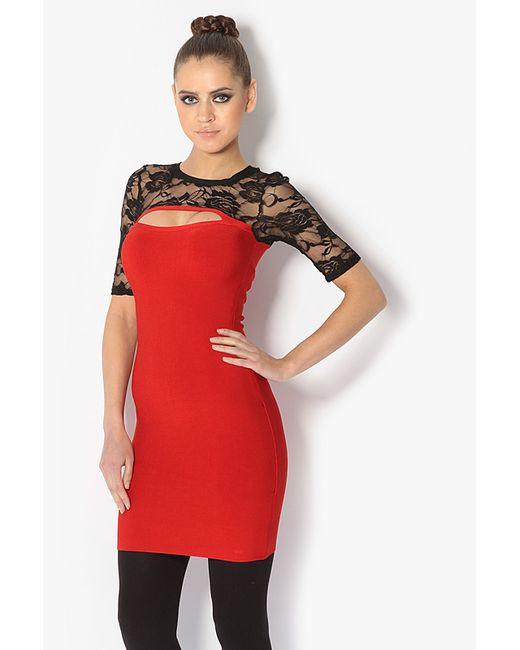 Tutto Bene | Женское Красное Платье С Кружевом