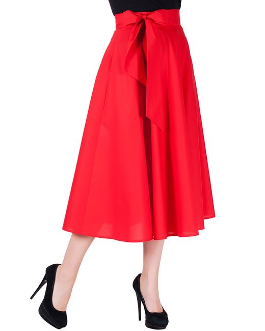 Mannon | Женская Красная Юбка