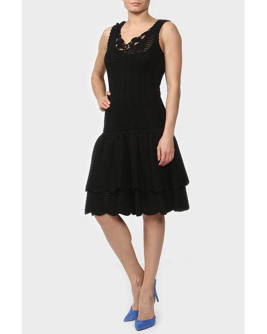 Oscar de la Renta | Женское Чёрное Платье 2 Предмета