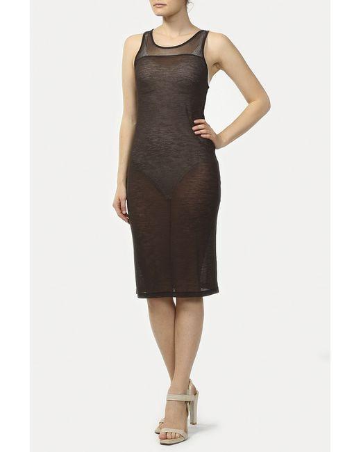 Vpl | Женское Коричневое Платье Джерси